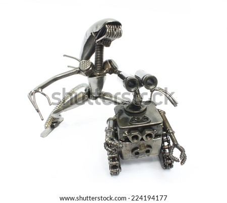 """Recycle toy"" manufacture of steel junk (knot, solder, iron, nails, chain)"