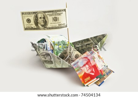 ship with shekels,dollars and euro