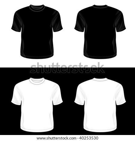 Front And Back Black T Shirt Template | Blank Tshirt Template Front Back Stock Vector 295330430 Shutterstock