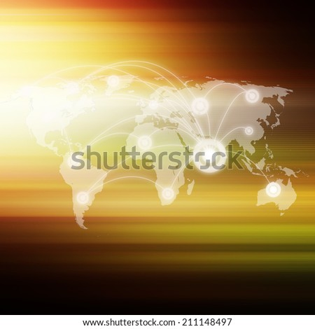 Social network  on abstract  background