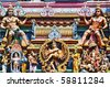 statue of Hindu god in vadapalani murugan temple, Chennai, India - stock photo