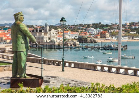 Statue of King Carlos I in Cascais. Lisbon. Portugal