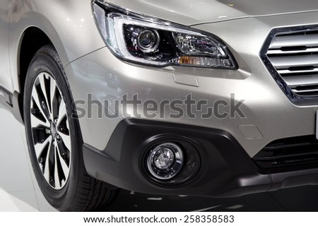 2015 Subaru Outback EU-Version presented the 85th International Geneva Motor Show on March 3, 2015 in Palexpo, Geneva, Switzerland