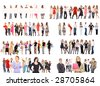 8 teams of people - stock photo