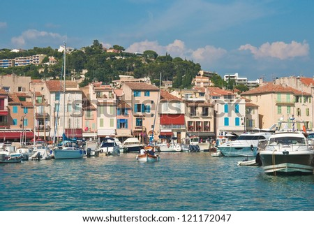 The beautiful town of Cassis in the French Riviera