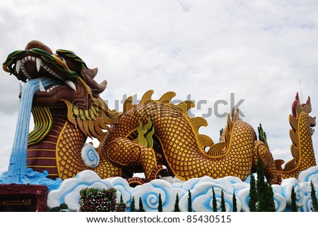 """The greast Dragon"" Traditional Chinese style architecture , Thailand"