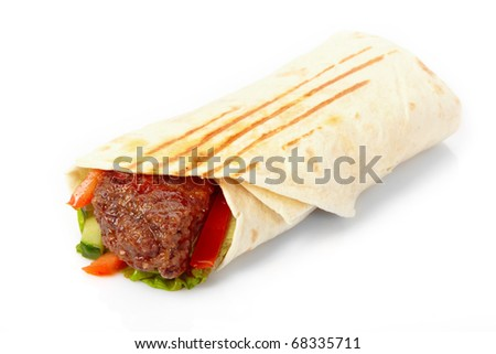 tortilla with beef and vegetables
