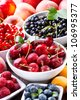 various fresh fruits and berries - stock photo