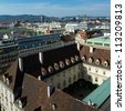 View of Vienna from Stephansdom - cityscape of Austrian capital city. - stock photo