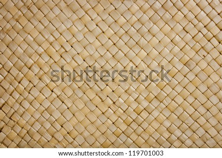 A background image of a woven bamboo mat
