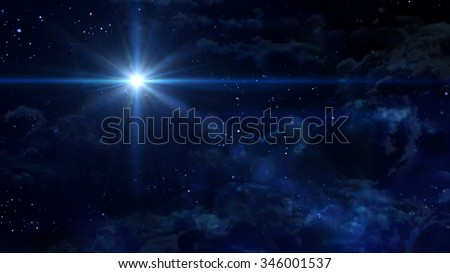 A Bethlehem illuminated by the Christmas star of Christ. - Elements of this Image Furnished by NASA