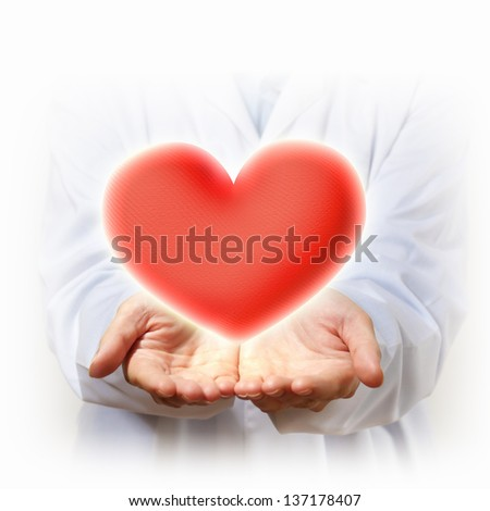 A Big Red Heart in thehand of a person