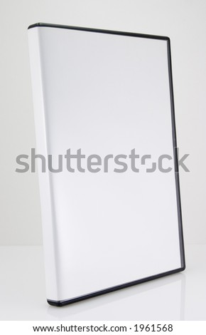 A blank CD/DVD case on white