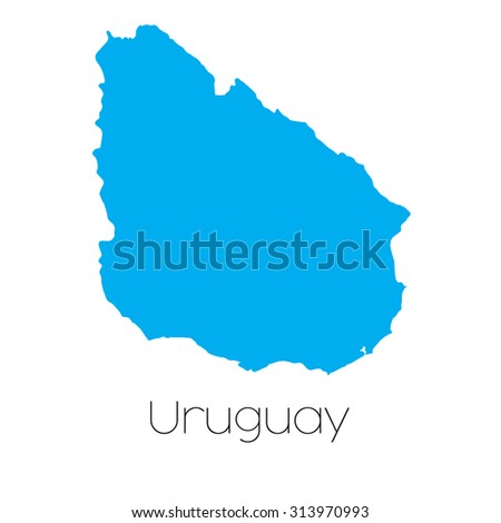 Map Country Uruguay Stock Illustration Shutterstock - Uruguay map png
