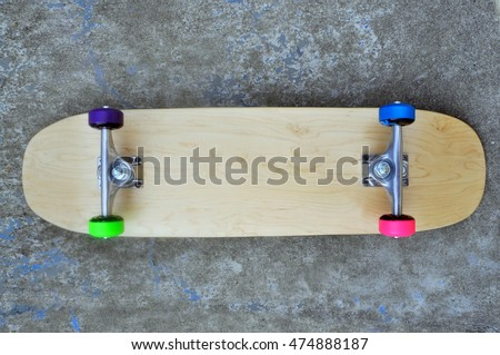 a brand new blank skateboard complete
