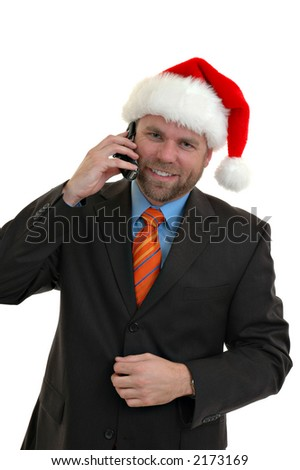 A businessman at Christmas time