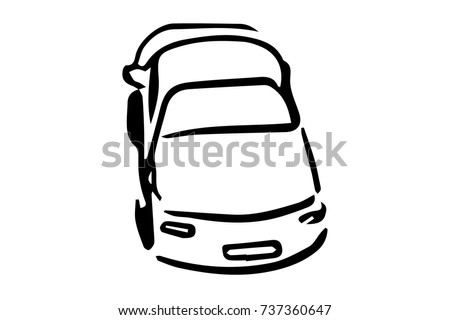 Simple Car Icon From Above