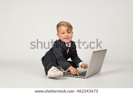 Child role office manager laptop phone stock photo 462243778 shutterstock - Role of an office manager ...