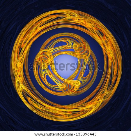circular Celtic style triad motif resembling a celtic knotwork ...