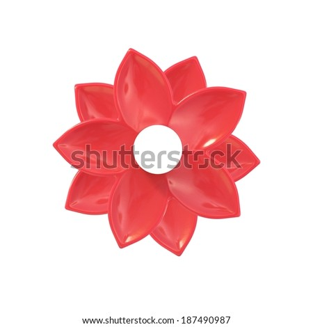 A close up image of a ceramic flower decorations