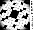 A close up, macro shot, of a crossword puzzle game - stock photo