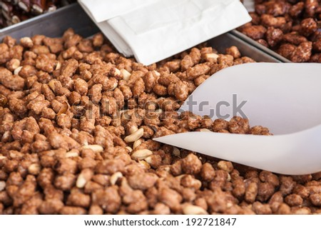 A close-up of peanut sweet from the fair