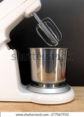 A close up shot of a food mixer