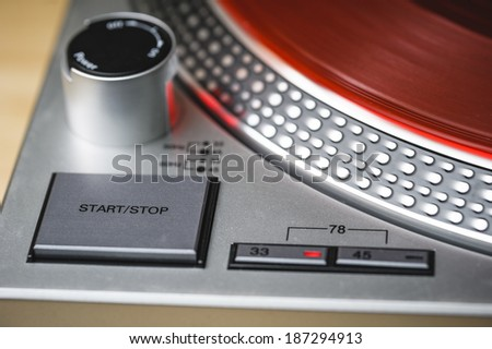 a close up shot of a turntable