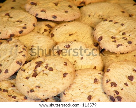A close up view of cookies