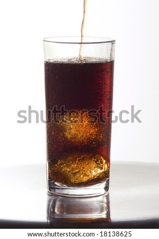 A cola glass almost full