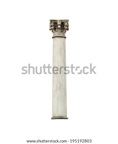 A Column isolated on a white background