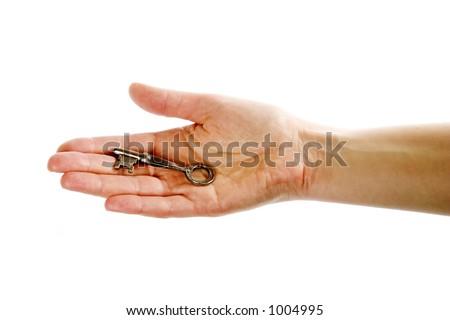 Closeup Women Cut Fingernails On White Stock Photo