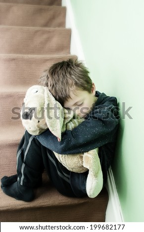 A Conceptual Image of an Abused Child suffering Domestic Violence.