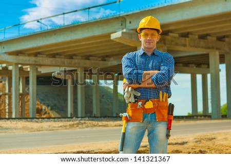 a contractor on building place