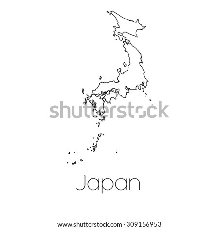 A Country Shape isolated on background of the country of Japan