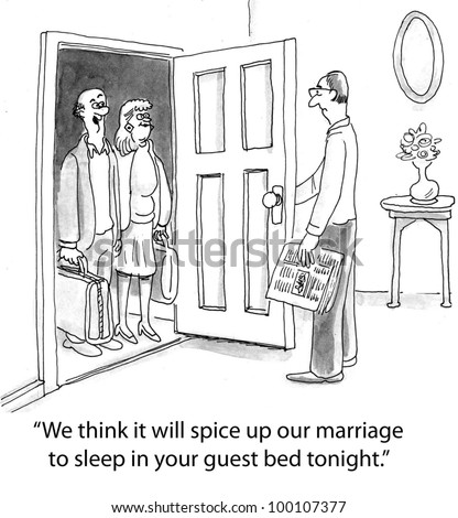 Am only one who remembered 50s stock illustration 98909240 - Spicing up the bedroom for married couples ...