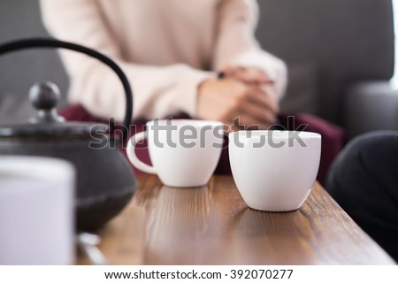 a cup of tea in coffee shop