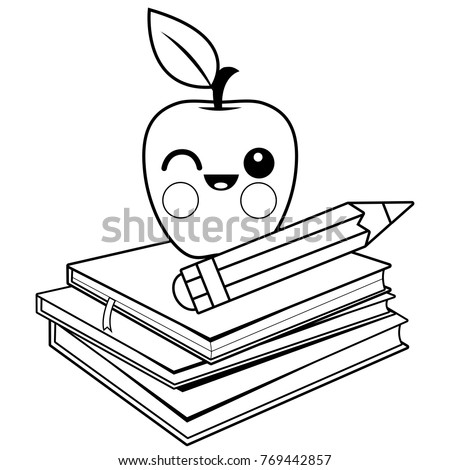 Teacher Teaching Class Coloring Book Page Stock Vector