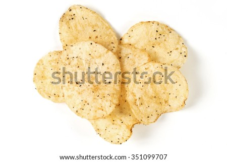 a few sea salt and black pepper kettle cooked potato chips