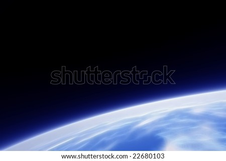A fractal image of earth from its orbit