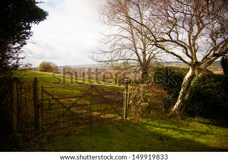 A gated paddock deep in the English countryside near Hedsor, Buckinghamshire, England