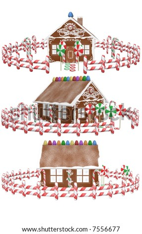 A gingerbread house.
