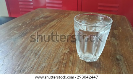 A glass of iced water