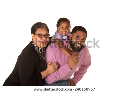 A grandmother, her son and granddaughter. 3 generations