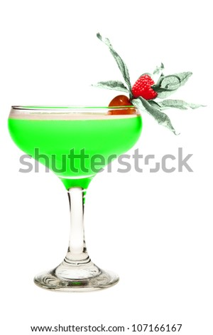 A Green cocktail isolated