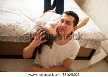 guy and girl cuddling