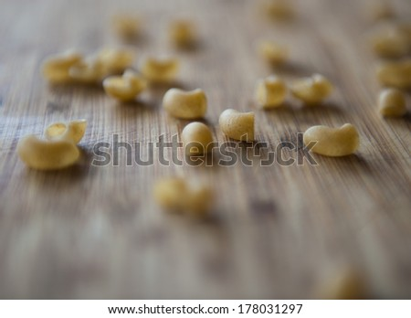 A handful of pasta, macaroni
