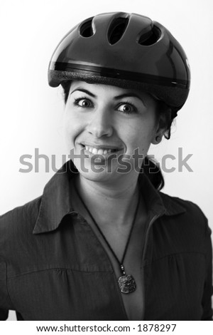 Portrait Man Colander On His Head Stock Photo 105437405
