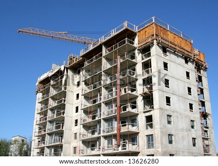 A high rise construction project.
