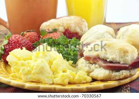 how to cook country ham biscuit slices